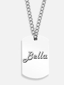 Bella Classic Retro Name Design Dog Tags