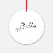 Bella Classic Retro Name Design Ornament (Round)