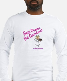HERE COMES THE GRANDMA Long Sleeve T-Shirt