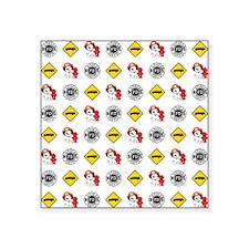 "DALMATION PATTERN Square Sticker 3"" x 3"""