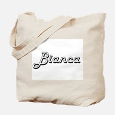 Bianca Classic Retro Name Design Tote Bag