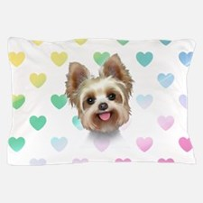 Yorkie Hearts Pillow Case