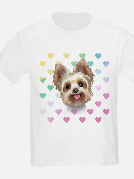Yorkie Hearts T-Shirt