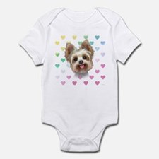 Yorkie Hearts Infant Bodysuit