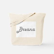 Breana Classic Retro Name Design Tote Bag