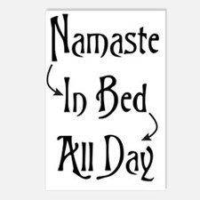 Namaste In Bed All Day Postcards (Package of 8)