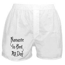 Namaste In Bed All Day Boxer Shorts