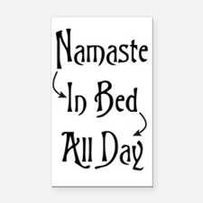 Namaste In Bed All Day Rectangle Car Magnet