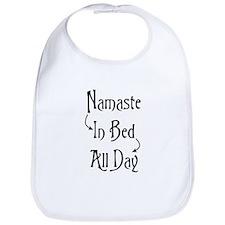 Namaste In Bed All Day Bib