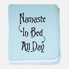 Namaste In Bed All Day baby blanket