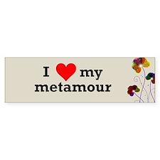 I Love Metamour Polyamory Bumper Bumper Sticker