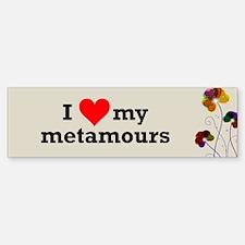 I Love Metamours Polyamory Bumper Bumper Bumper Sticker