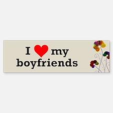 I Love My Boyfriends Polyamory Bumper Bumper Bumper Sticker