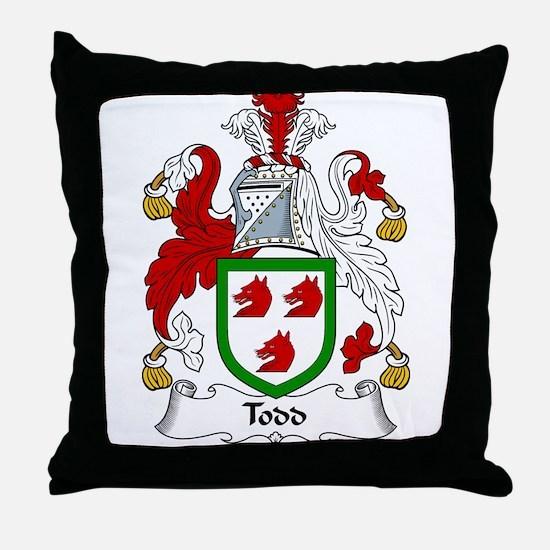 Todd Family Crest Throw Pillow