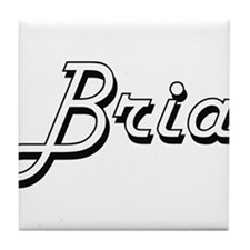 Bria Classic Retro Name Design Tile Coaster