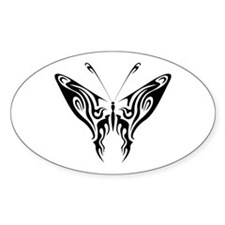 BUTTERFLY 7 Oval Decal