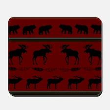 Mountain Cabin Design Mousepad