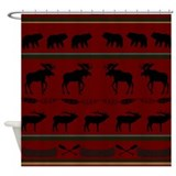 Cabin in the woods Shower Curtains