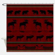 Mountain Cabin Design Shower Curtain