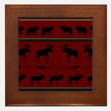 Mountain Cabin Design Framed Tile