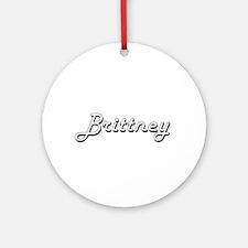 Brittney Classic Retro Name Desig Ornament (Round)