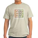 Geek in Binary Code Ash Grey T-Shirt