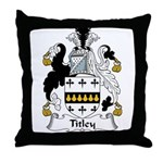 Titley Family Crest Throw Pillow