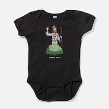 There's Jesus! Baby Bodysuit