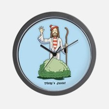 There's Jesus! Wall Clock