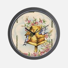 Cute Birdhouse Wall Clock