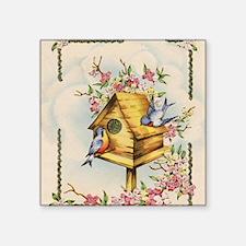 """Unique Birdhouse Square Sticker 3"""" x 3"""""""