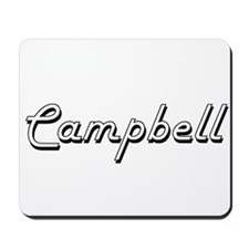 Campbell Classic Retro Name Design Mousepad