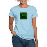 Computer Geek Binary Women's Pink T-Shirt