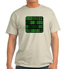 Computer Geek Binary Ash Grey T-Shirt
