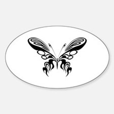BUTTERFLY 8 Oval Decal