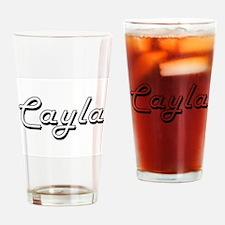 Cayla Classic Retro Name Design Drinking Glass