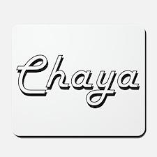 Chaya Classic Retro Name Design Mousepad
