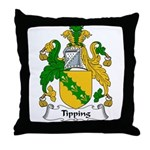 Tipping Family Crest Throw Pillow