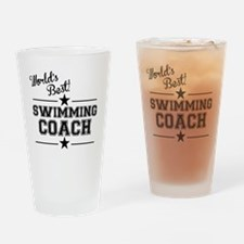 Worlds Best Swimming Coach Drinking Glass