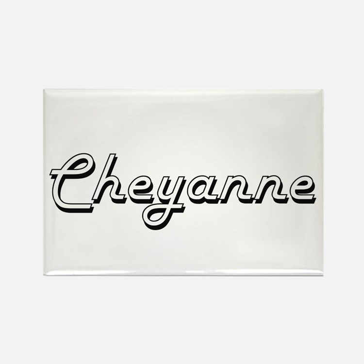 Cheyanne Classic Retro Name Design Magnets