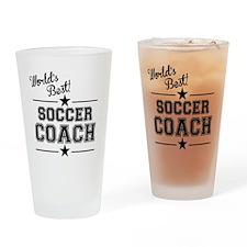 Worlds Best Soccer Coach Drinking Glass