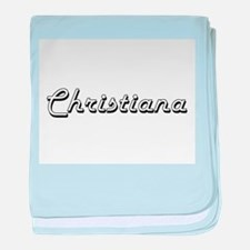 Christiana Classic Retro Name Design baby blanket