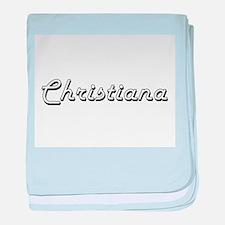 Christiana Classic Retro Name Design baby blanket