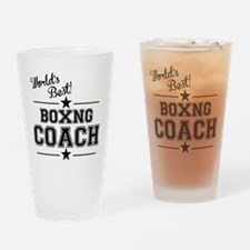 Worlds Best Boxing Coach Drinking Glass