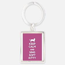 Unique Soft kitty Portrait Keychain