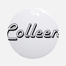 Colleen Classic Retro Name Design Ornament (Round)
