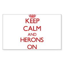 Keep Calm and Herons ON Decal