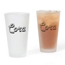 Cora Classic Retro Name Design Drinking Glass