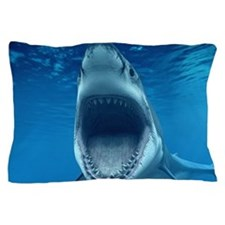 Big White Shark Jaws Pillow Case