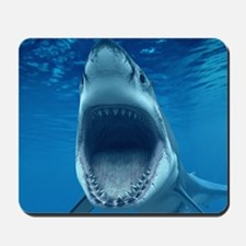 Big White Shark Jaws Mousepad